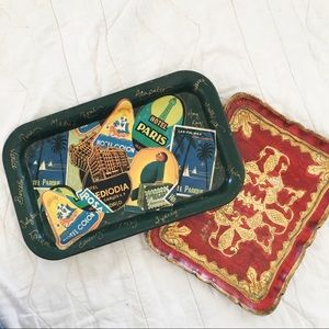 2 Vintage Decorative Trays